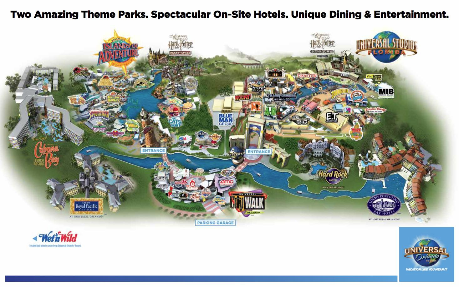 Universal Orlando Mapart Exhibitionuniversal Studios Park - States - Universal Florida Park Map