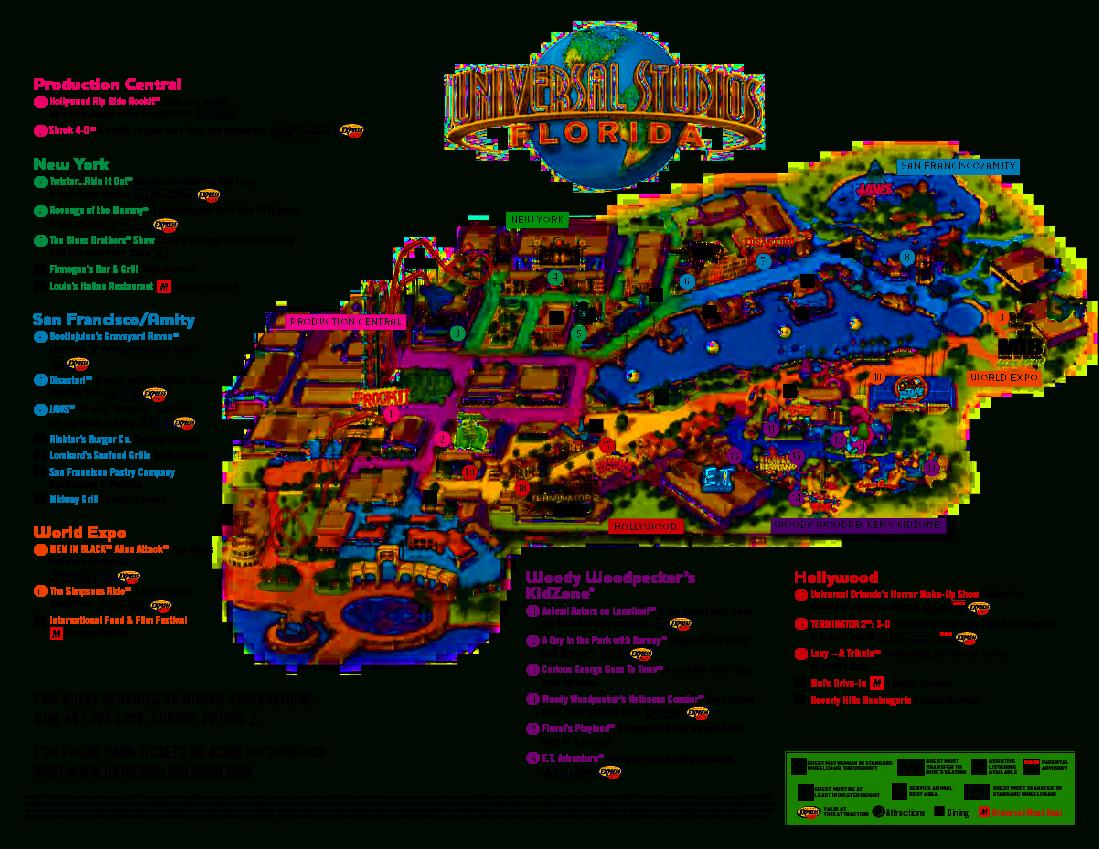 Universal Orlando Park Map 2013 | Orlando Theme Park News: Wdw - Orlando Florida Attractions Map
