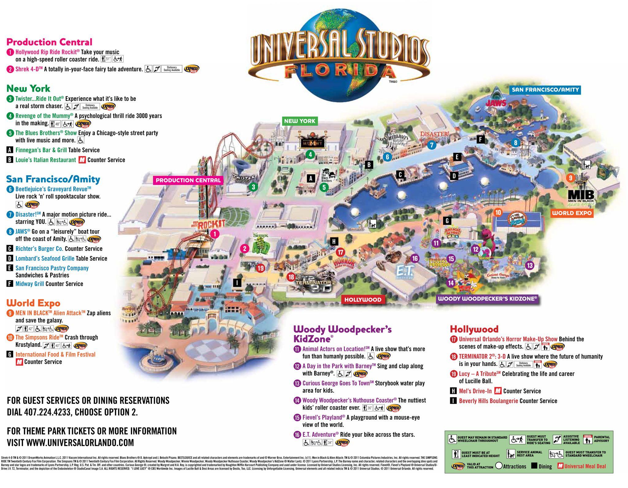 Universal Park Map | Florida Visit Ideas | Pinterest | Universal - Universal Studios Florida Citywalk Map