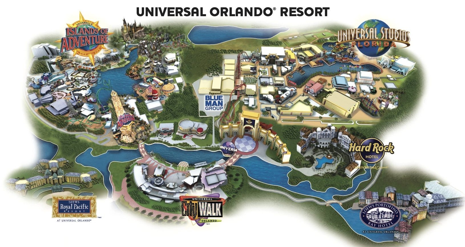Universal Resort Map. Staying At Hard Rock Hotel Means You're Close - Map Of Universal Studios Florida Hotels