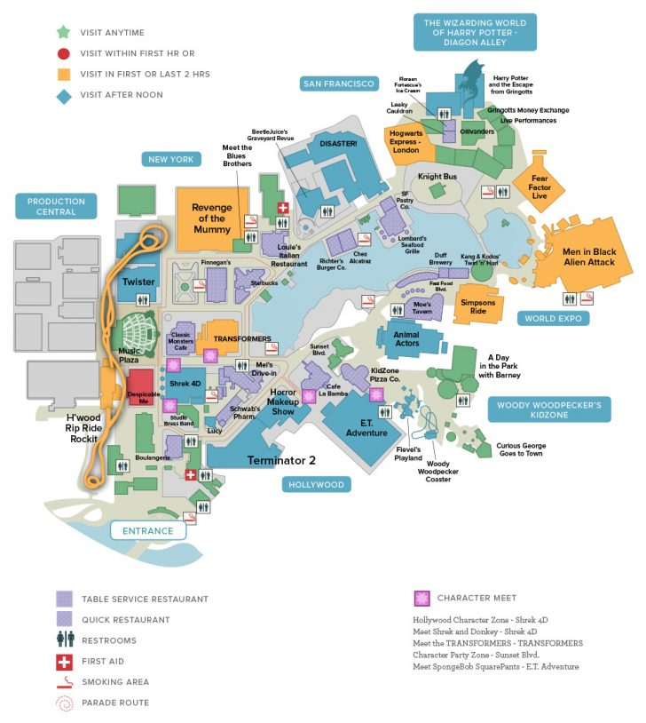 Universal Studios Florida Resort Map