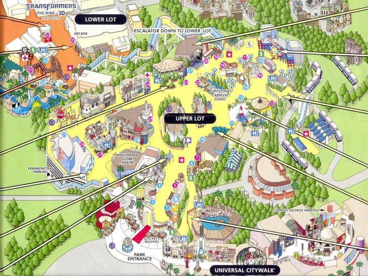 Universal Studios California Map
