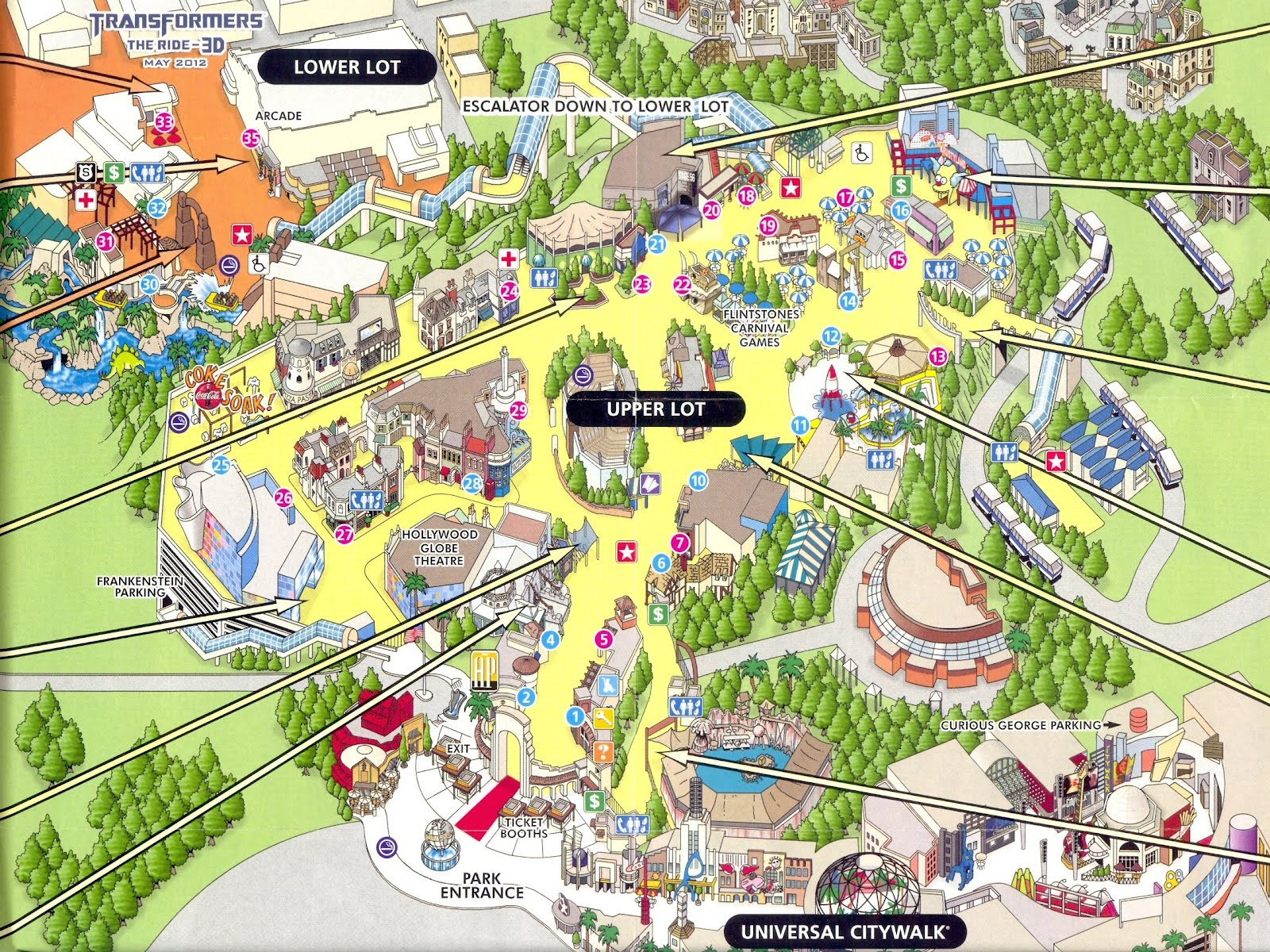 Universal Studios California Park Map Valid Map Los Angeles Showing - Universal Studios California Map Of Park