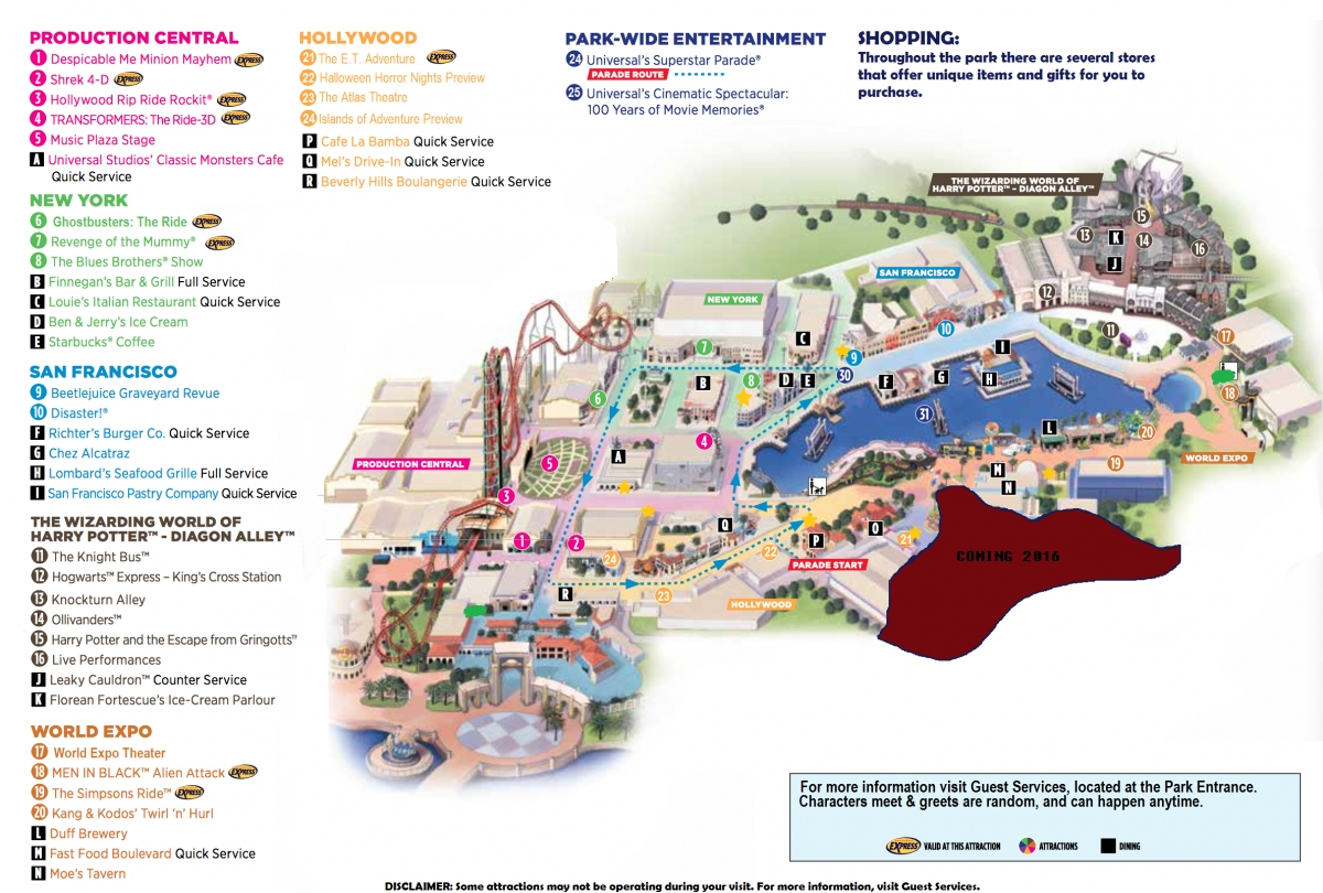 Universal Studios Florida Map 2015 And Travel Information | Download - Map Of Universal Studios Florida Hotels