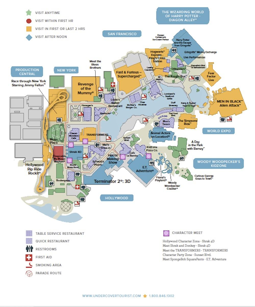 Universal Studios Florida | Universal Orlando Discount Tickets, Crowds - Universal Studios Florida Park Map
