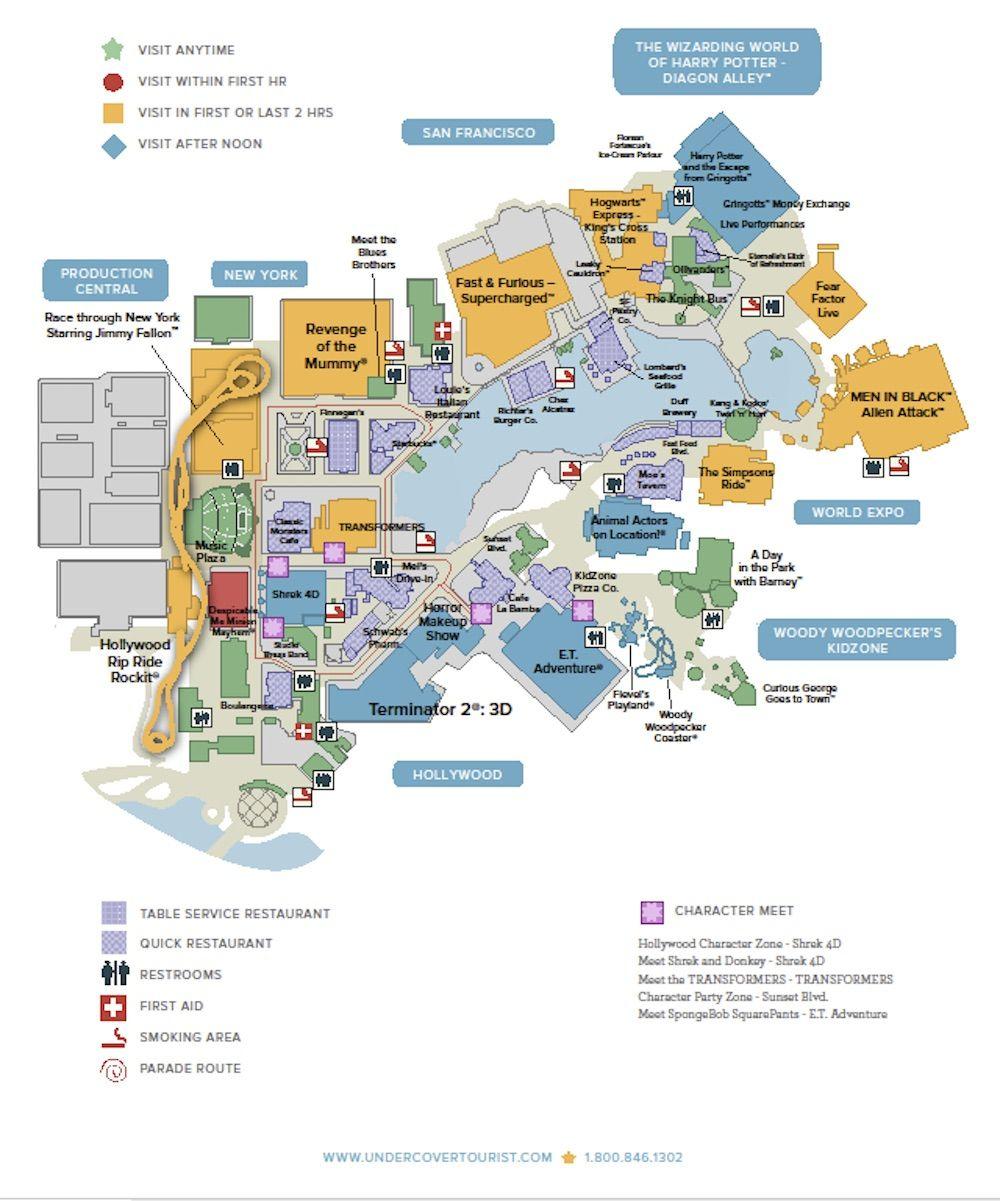 Universal Studios Floridatm General Map | Orlando 2018 (Wdw + Hp - Universal Studios Florida Map 2018