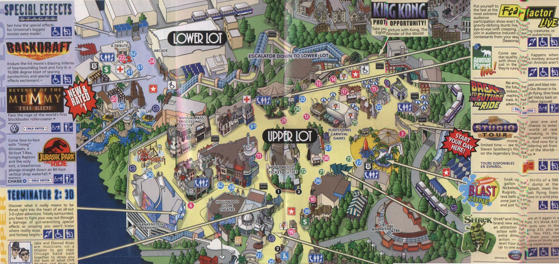 Universal Studios Hollywood California Map With Cities Universal - Universal Citywalk California Map
