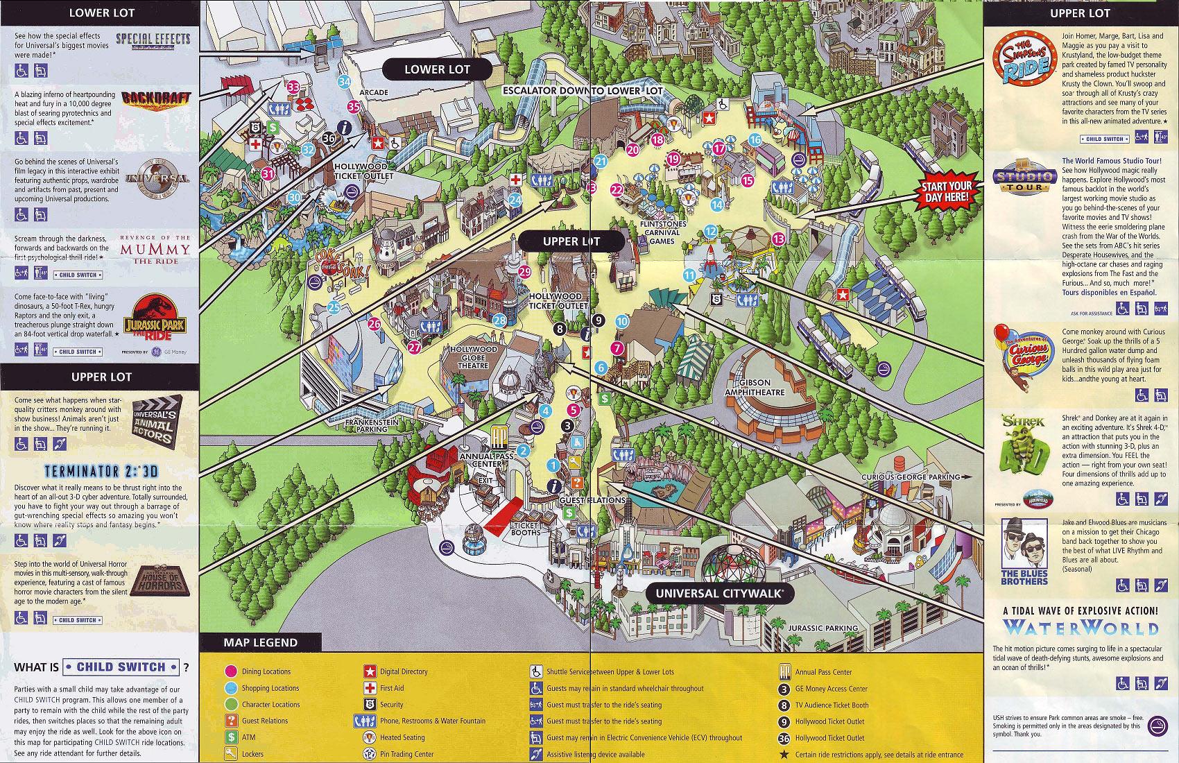 Universal Studios Hollywood California River Map Universal Studios - Universal Studios California Map Of Park