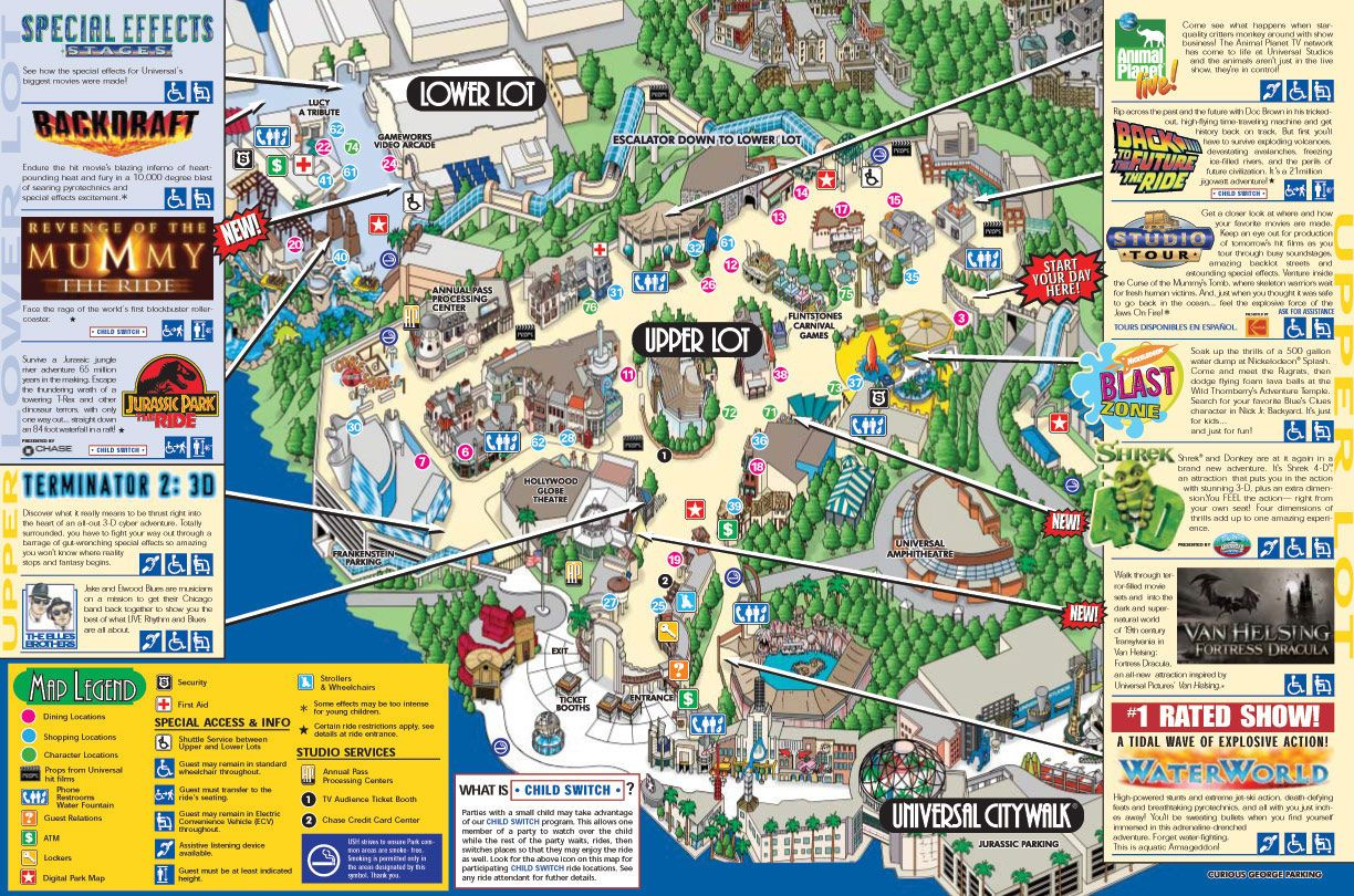 Universal Studios Los Angeles Map California Road Map Map Of - Universal Studios Map California 2018