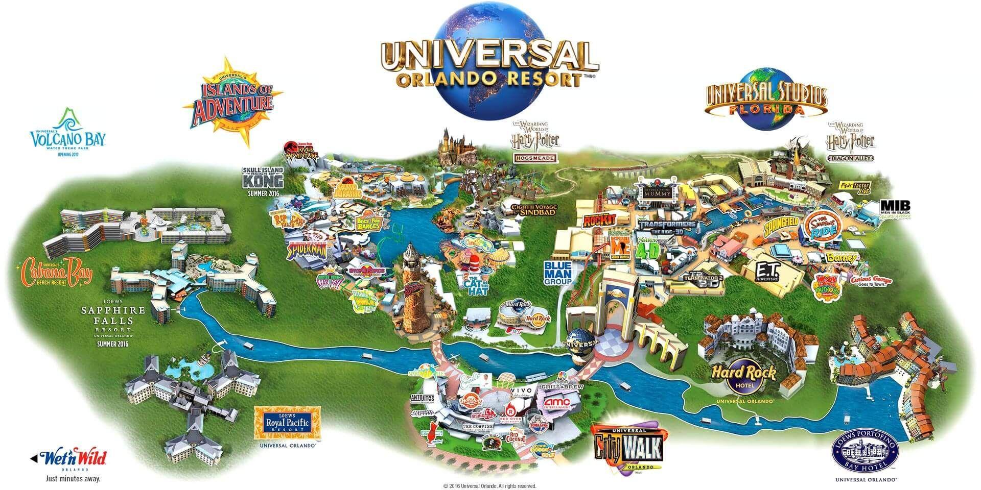 Universal Studios Map - Universal Studios Map Orlando (Florida - Usa) - Orlando Florida Universal Studios Map