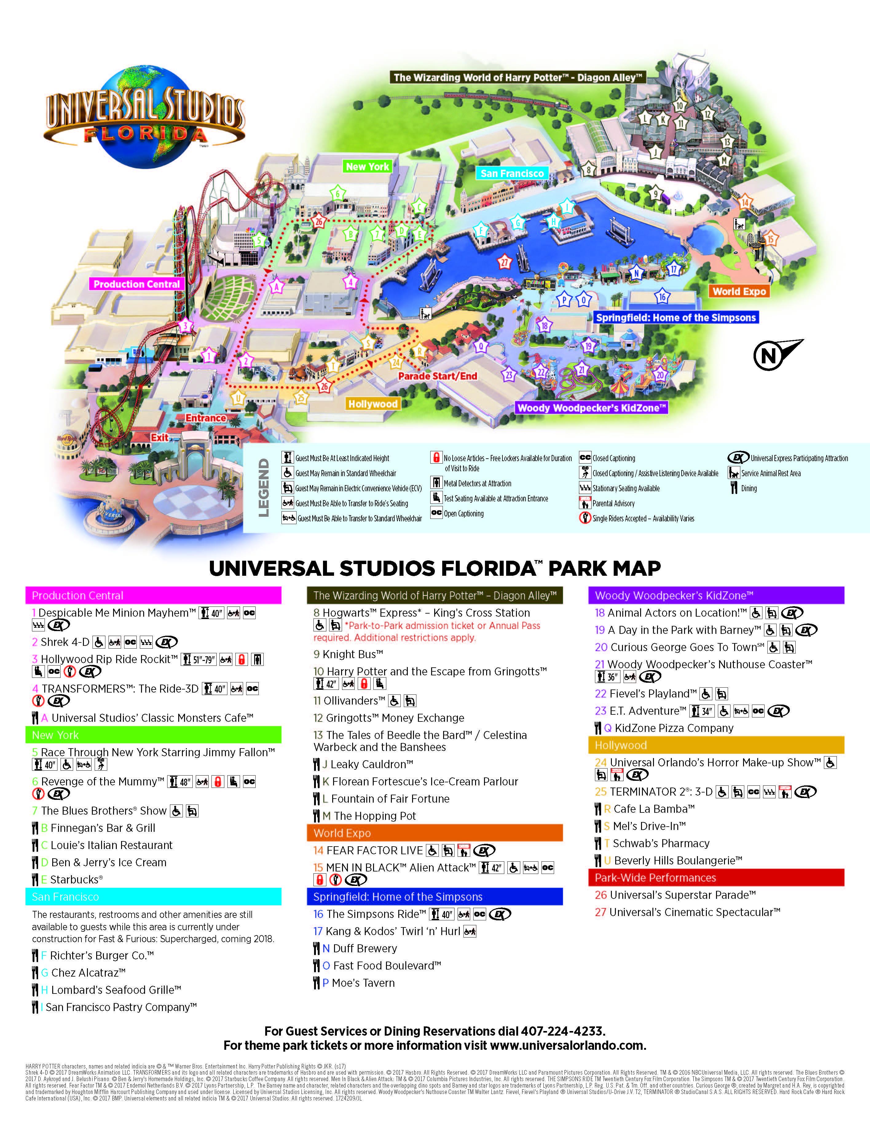 Universal Studios Orlando Information | Visit Orlando - Universal Studios Florida Map