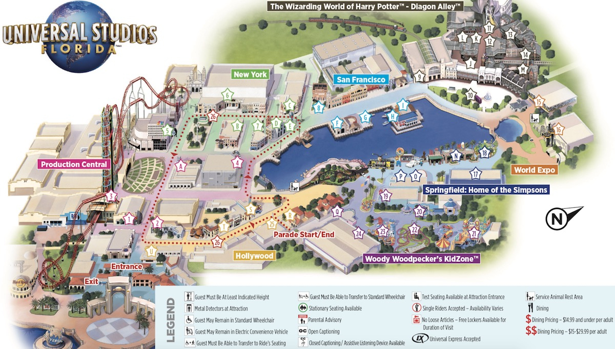 Universal Studios – Packing A Punch In Orlando | Orlando Insider - Universal Studios Florida Park Map