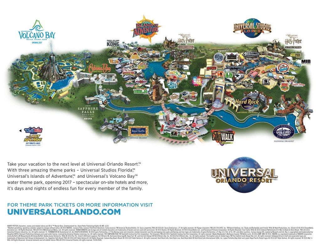 Universal Studios Resort Orlando - Maplets - Universal Studios Florida Resort Map