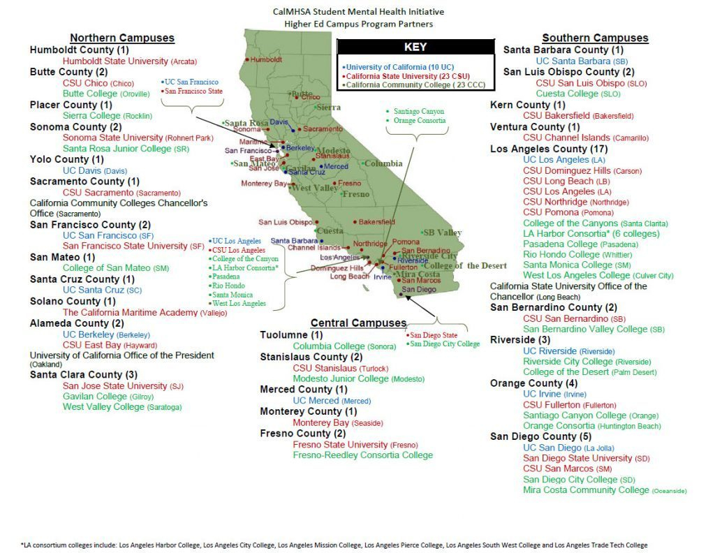 Universities In Northern California Map - Klipy - Colleges In California Map