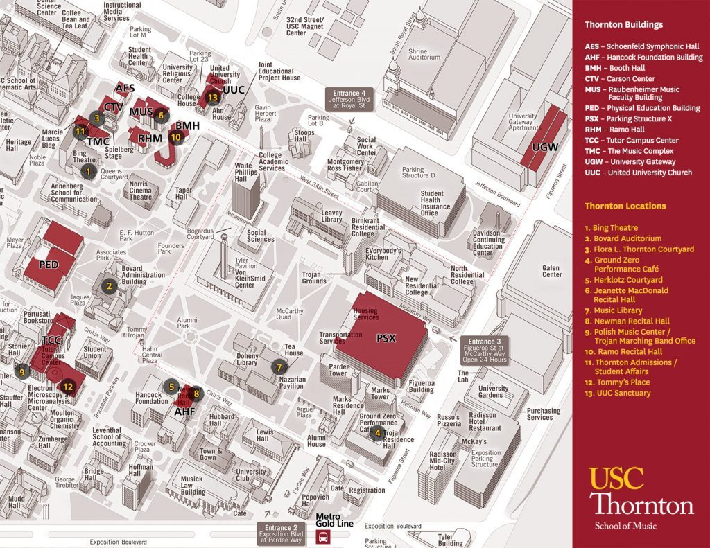 Universities In Southern California Map - Klipy - University Of Southern California Map