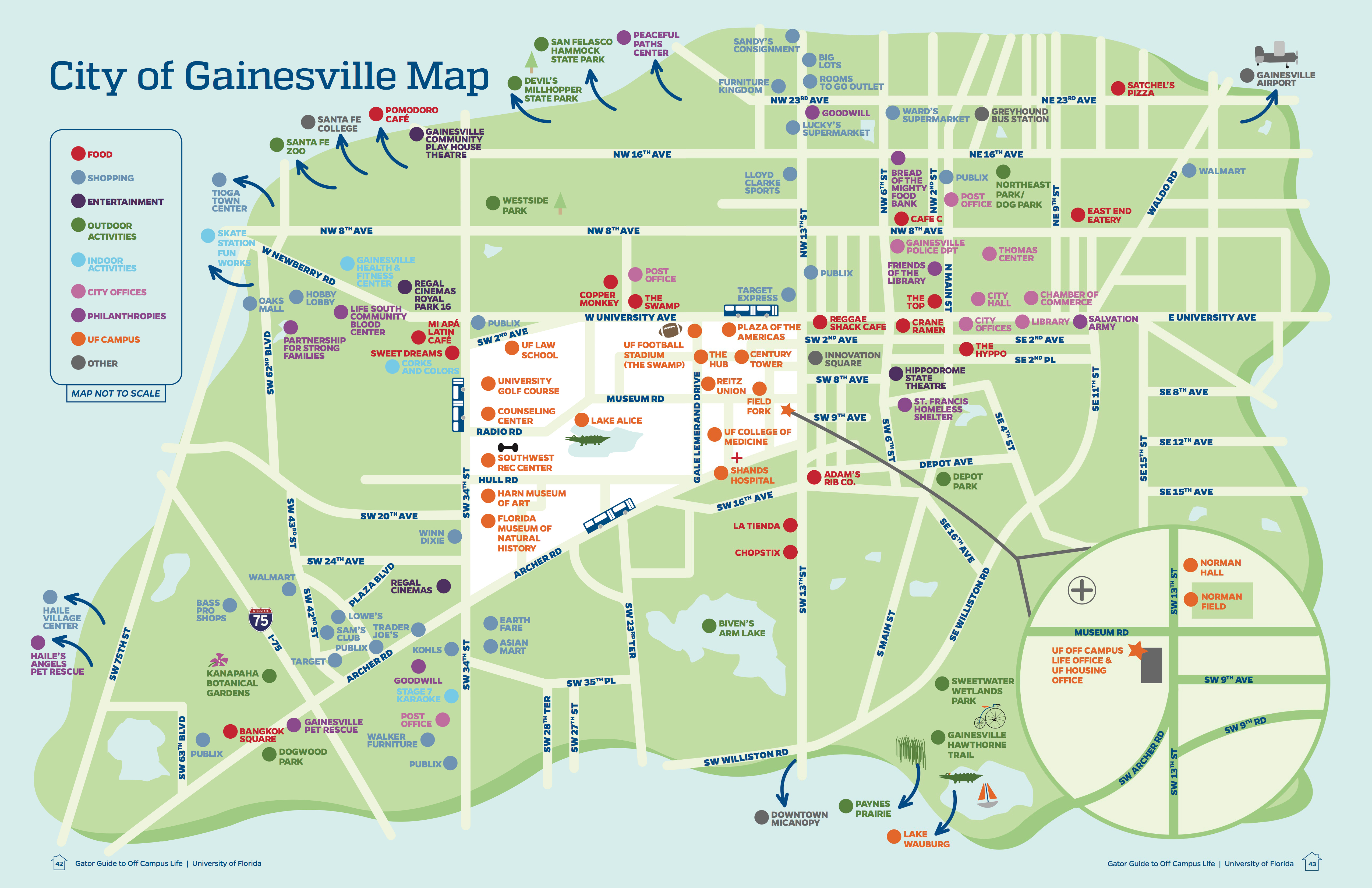 University Of Florida Off Campus Life - Christina Singer - Map Of Gainesville Florida Area