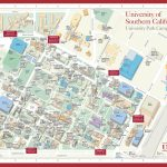 University Of Southern California Campus Map Map With Zone Large Map   University Of Southern California Map