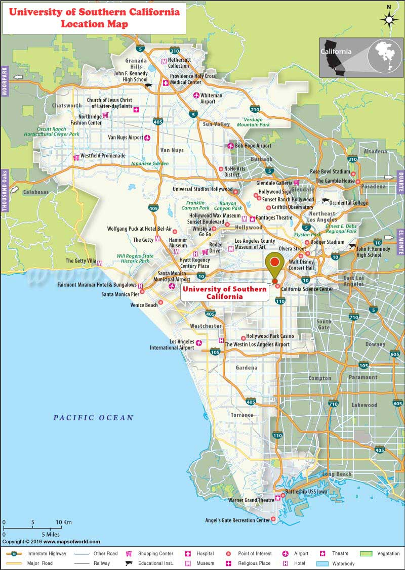 University Of Southern California Los Angeles Google Maps California - University Of Southern California Map