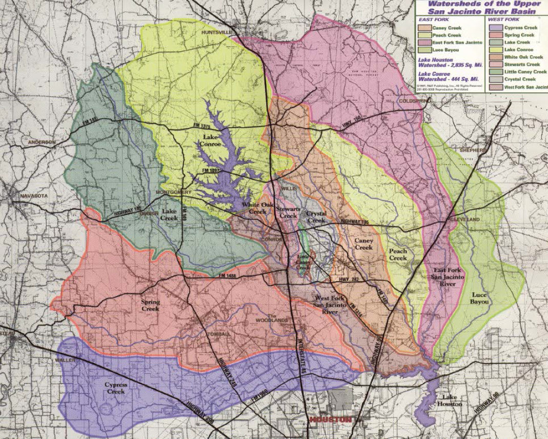 Update On Lake Conroe Water Releases - Map Of Lake Conroe Texas