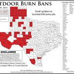 Updated Burn Ban Map For West Texas   Burn Ban Map Of Texas