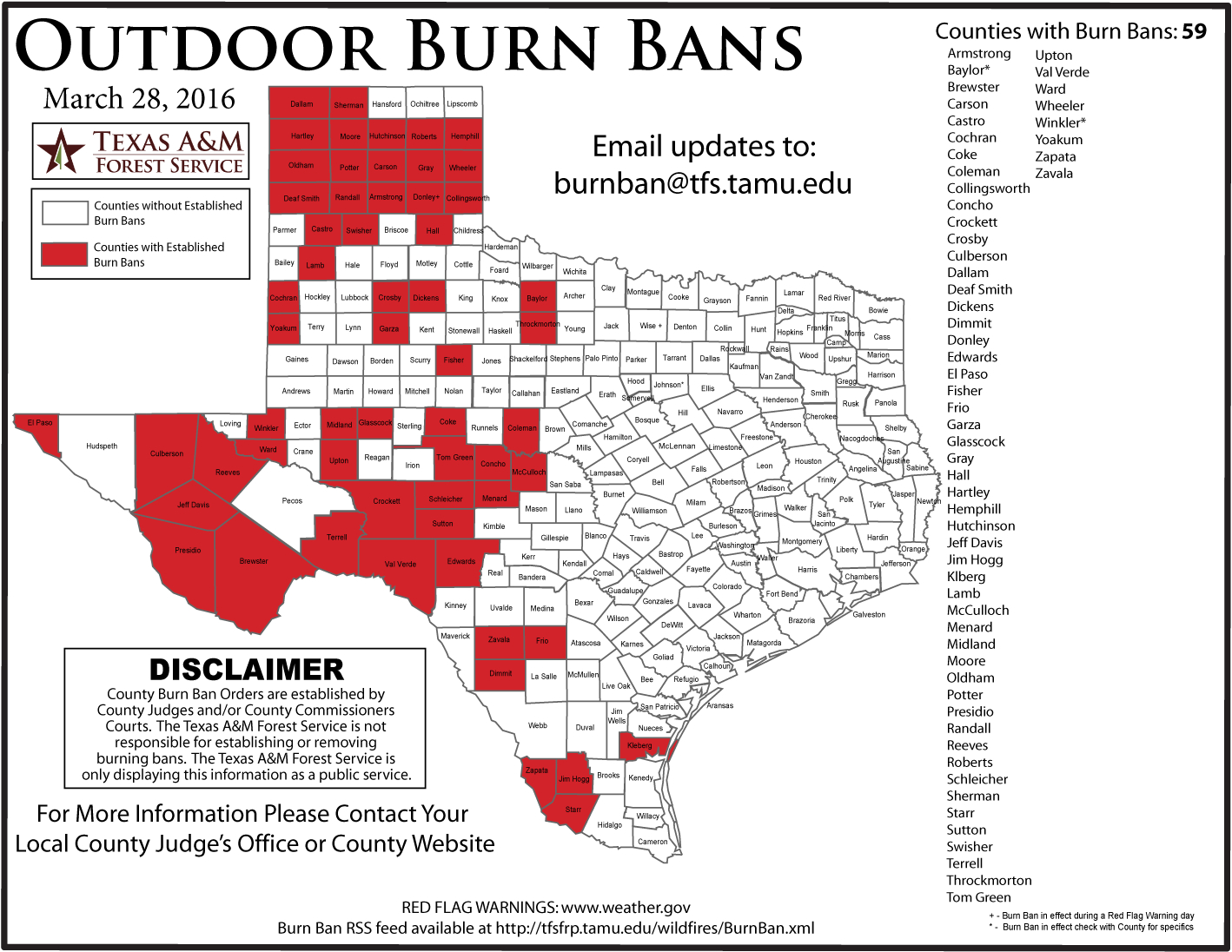 Updated Burn Ban Map For West Texas - Texas Burn Ban Map