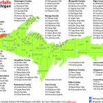 Upper Peninsula Of Michigan Waterfall Map | Michigan's Upper   Printable Map Of Upper Peninsula Michigan