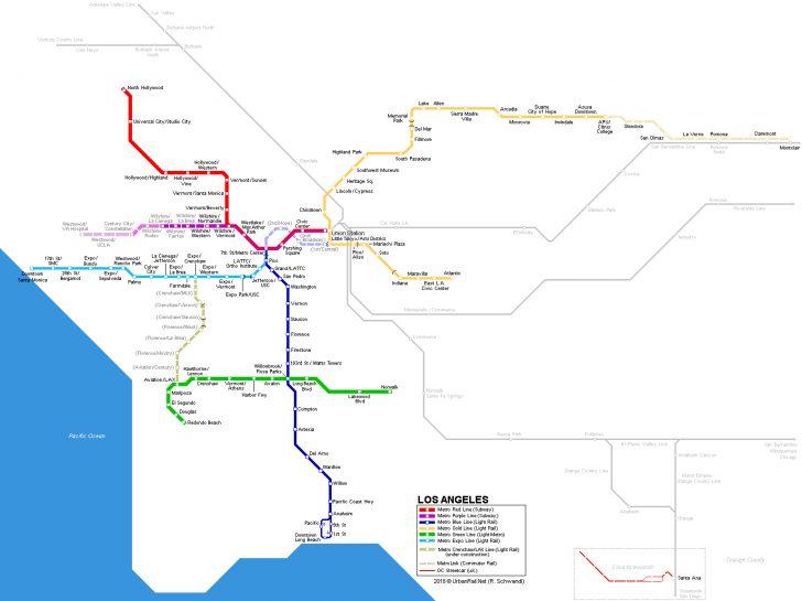 California Metro Rail Map
