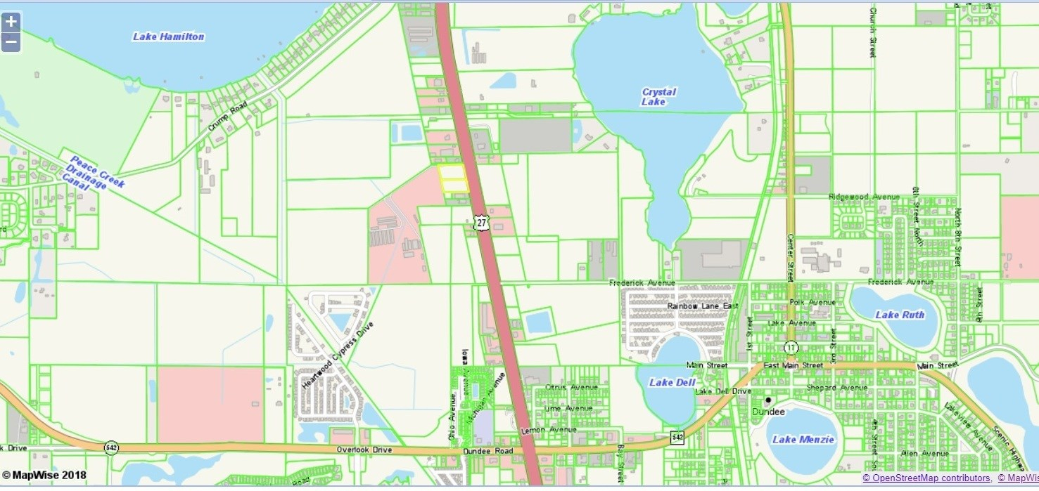 Us 27 Commercial Dundee Florida : Lot For Sale : Dundee : Polk - Dundee Florida Map