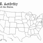 Us 50 State Map Practice Test Fill Blank Us Map Game Usmapblank   States And Capitals Map Quiz Printable