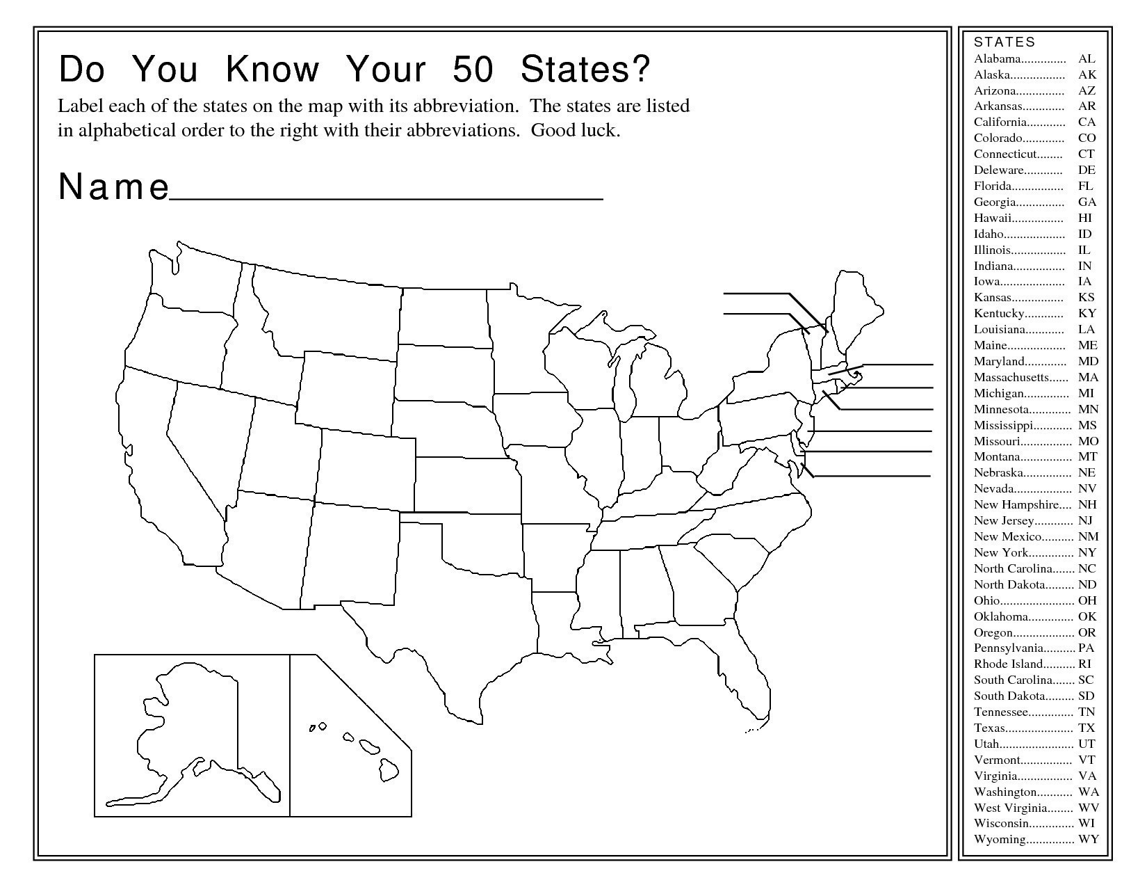Us Capitals Map Quiz Printable Fresh Us Colonies Map Quiz - States And Capitals Map Quiz Printable