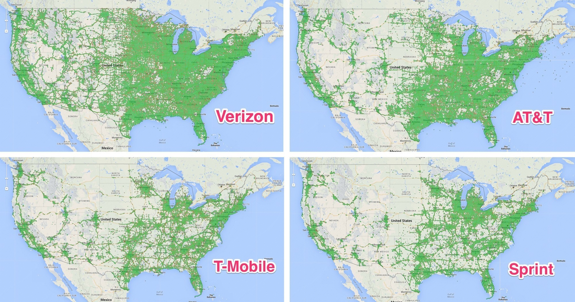 Us Cellular Florida Coverage Map Fresh United States Map Sprint - Sprint Service Map Florida