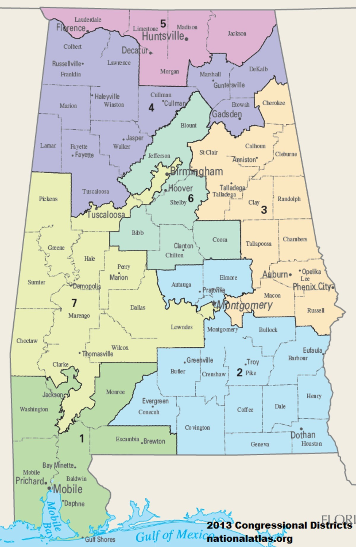 Us Congressional District Map Florida Refrence United States - Us Map Of Alabama And Florida