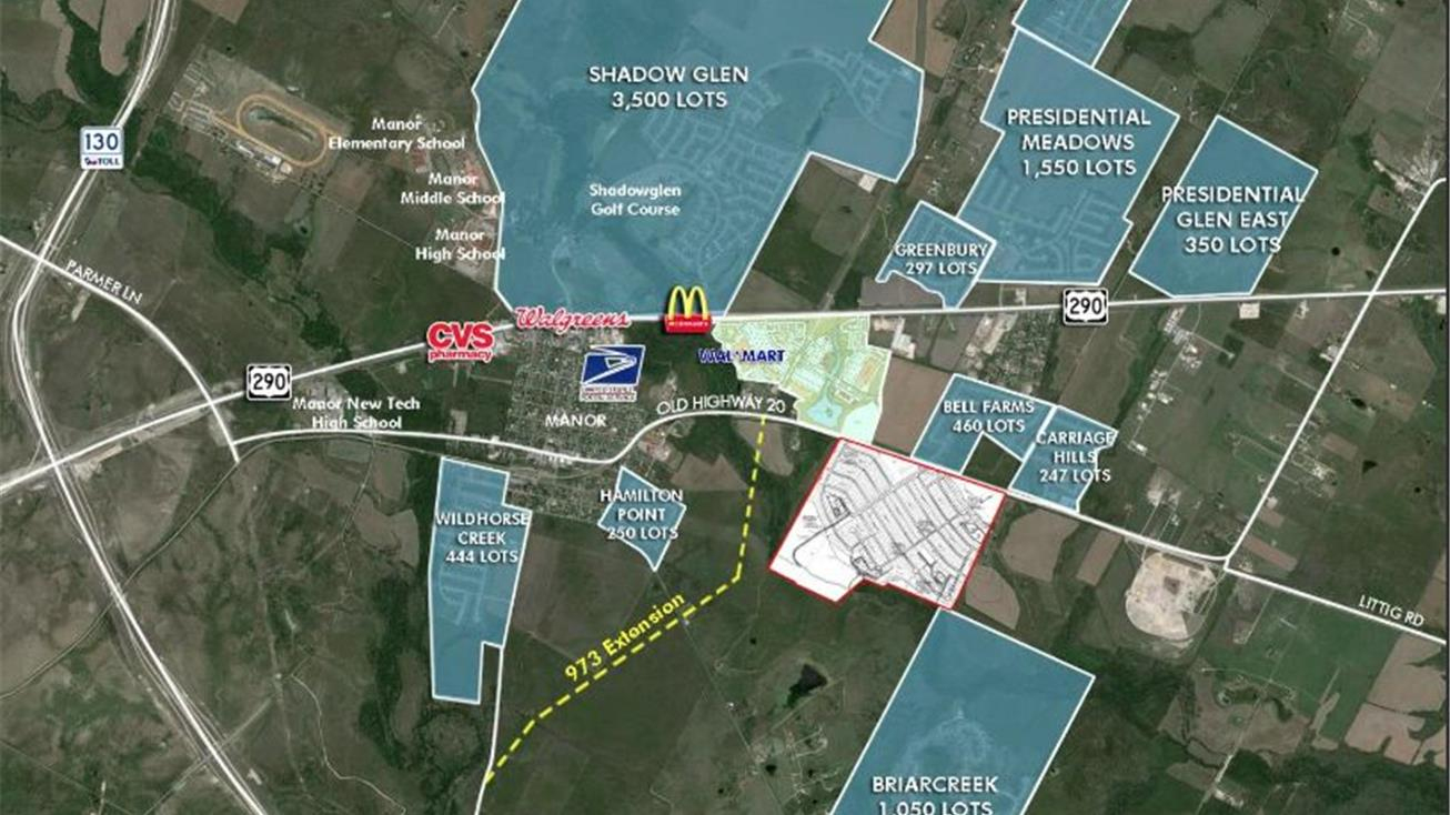 Us Highway 290, Manor, Tx 78653 - Land For Sale - 244 Acres Opp Zone - Texas Land For Sale Map