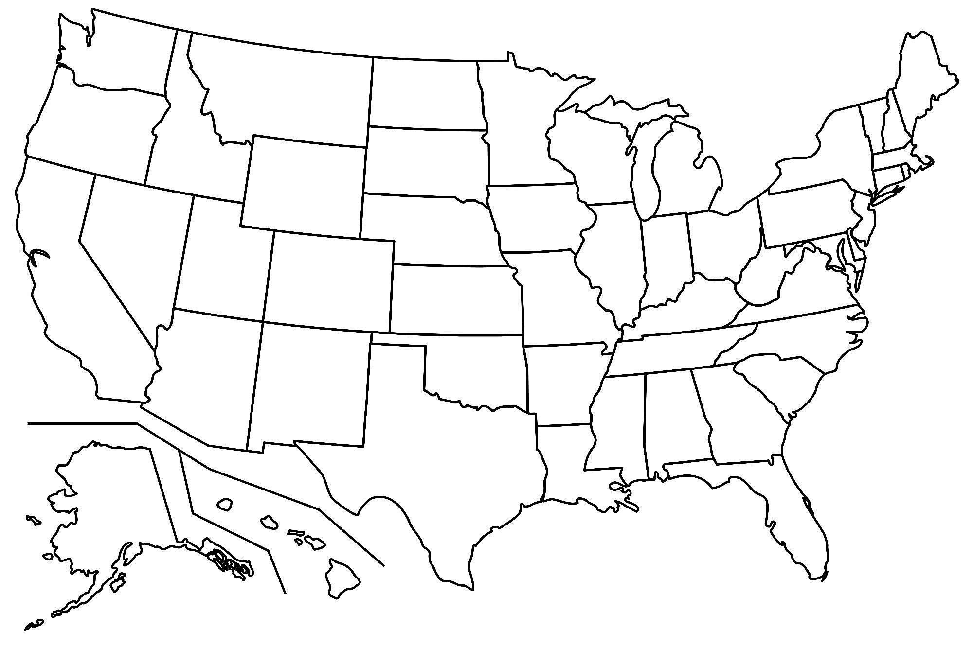 Us Map Fill In The Blank Unique United States Map Quiz Printout - Blank Us Map Printable