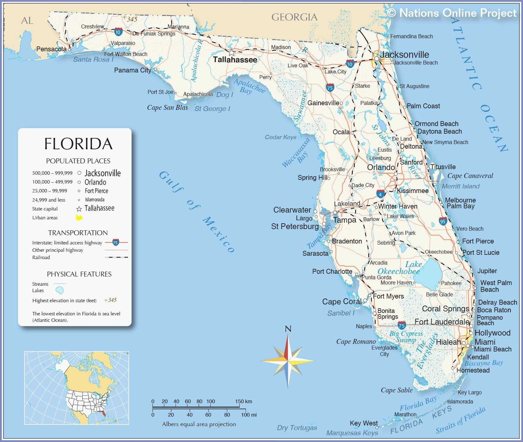 Us Map Florida Keys Unique United States Map Posters Sale Best Great - Clearwater Beach Florida On A Map