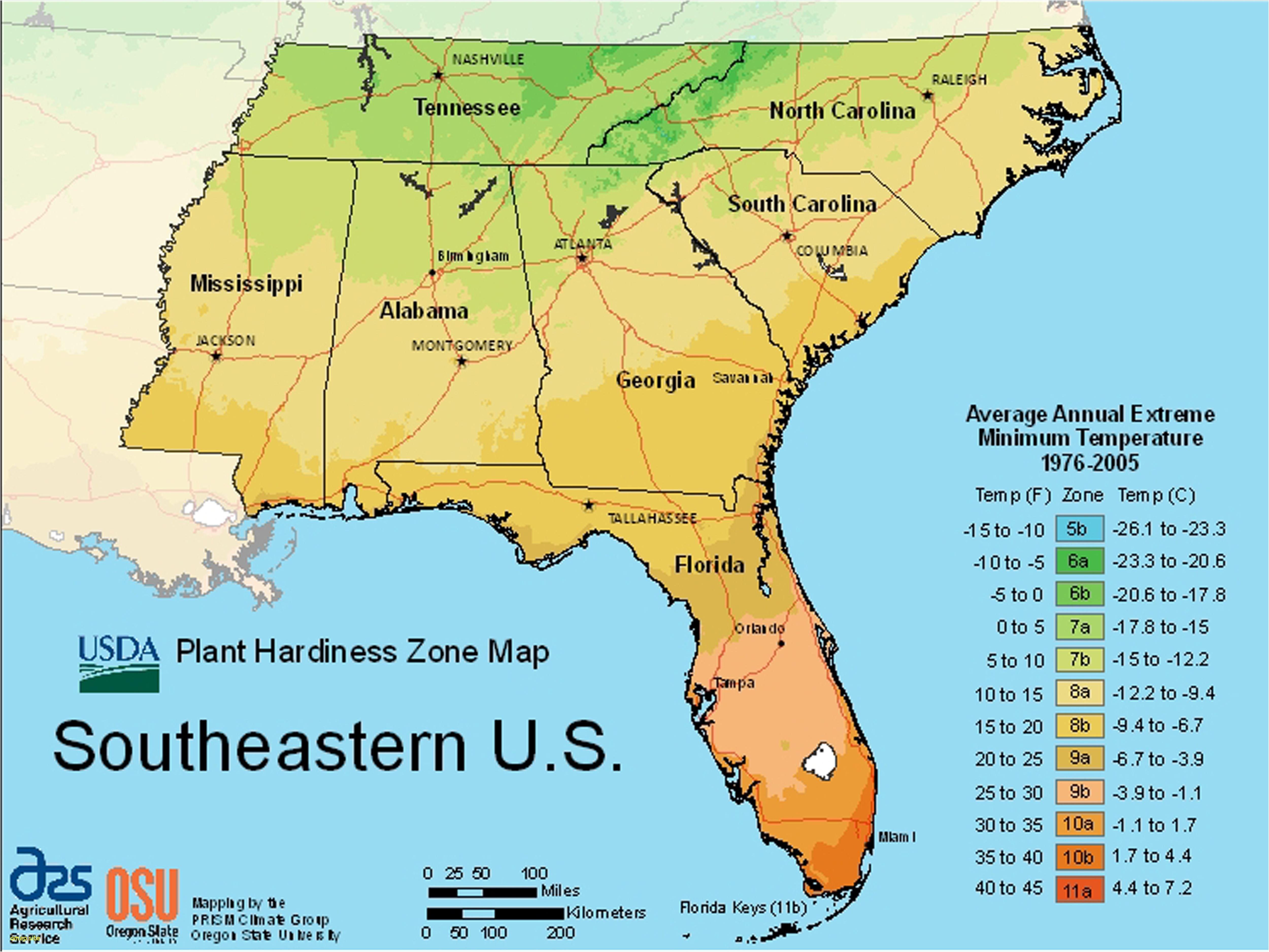 Us Map Of Growing Zones Elegant Usda Plant Hardiness Zone Map Maps - Plant Zone Map Florida