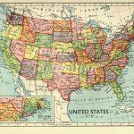 Us Map Of States Printable Usa Map 1930S Vintage United States Map   United States Travel Map Printable