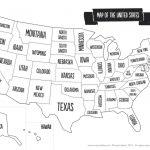 Us Map The South Printable Usa Map Print New Printable Blank Us   United States Travel Map Printable