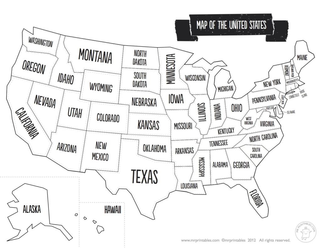 Us Map The South Printable Usa Map Print New Printable Blank Us - United States Travel Map Printable