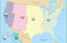 Us Map Time Zones Current Time Canada Usa Time Zones New United – Current Map Of Florida
