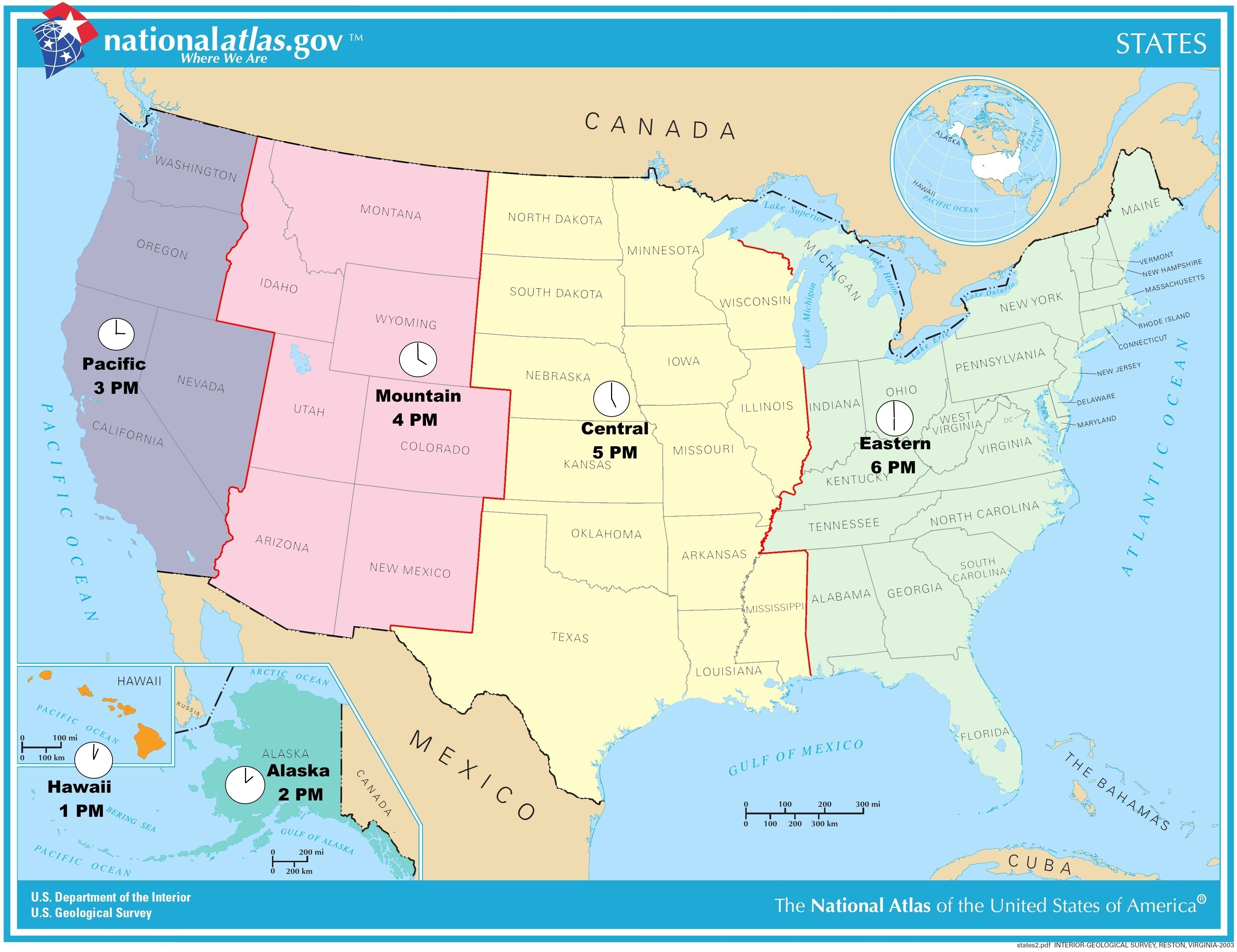 Us Map Time Zones Current Time Canada Usa Time Zones New United - Current Map Of Florida