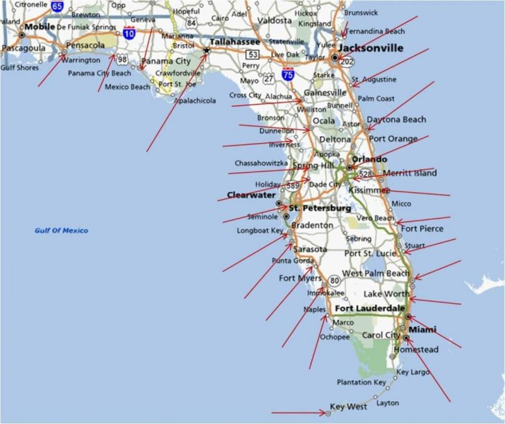 West Florida Beaches Map