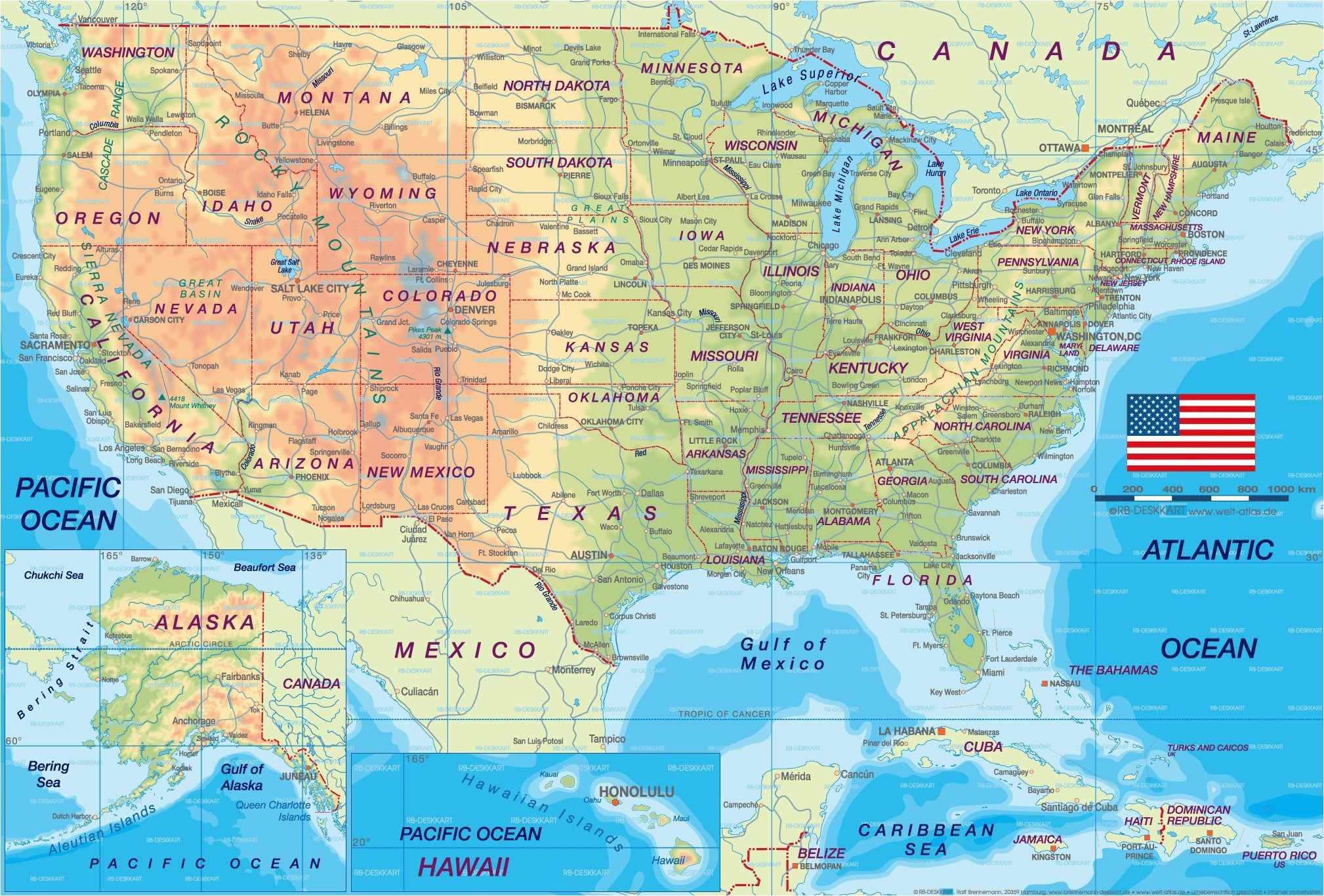 Us Mapstates And Cities Inspirationa Printable Us Map With - Printable Map Of The Usa With States And Cities