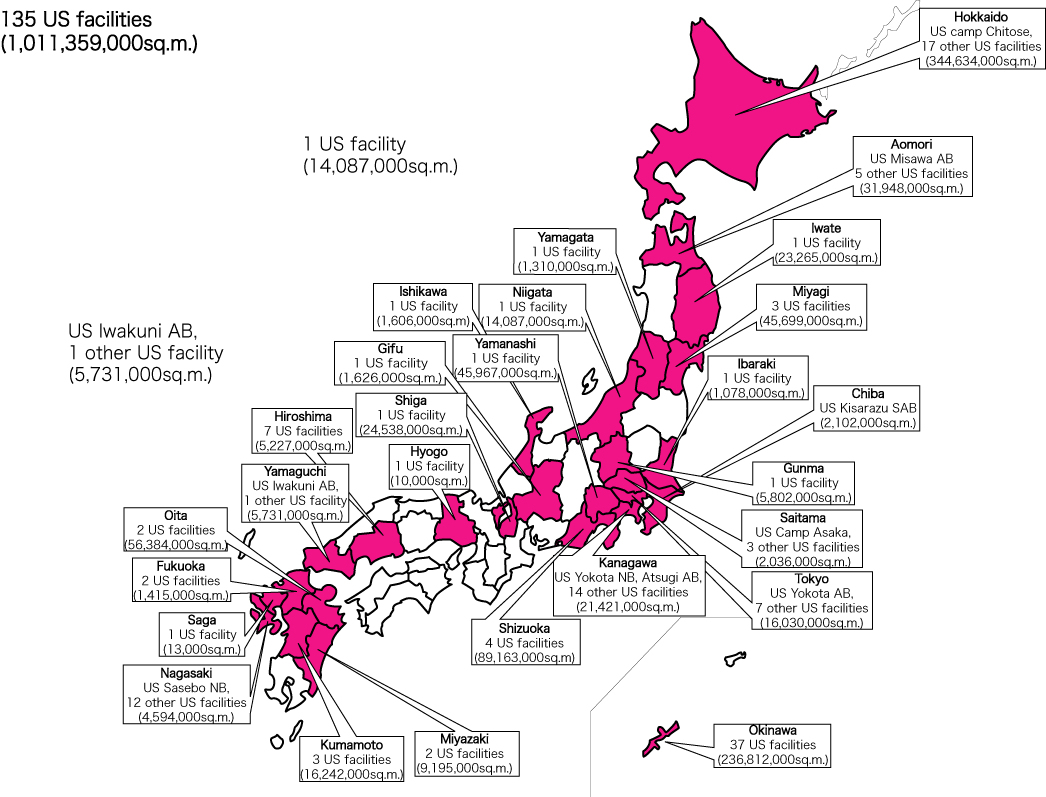 Us Military Bases In Japan Map Japan Map Us Navy Bases - Map Of Navy Bases In California