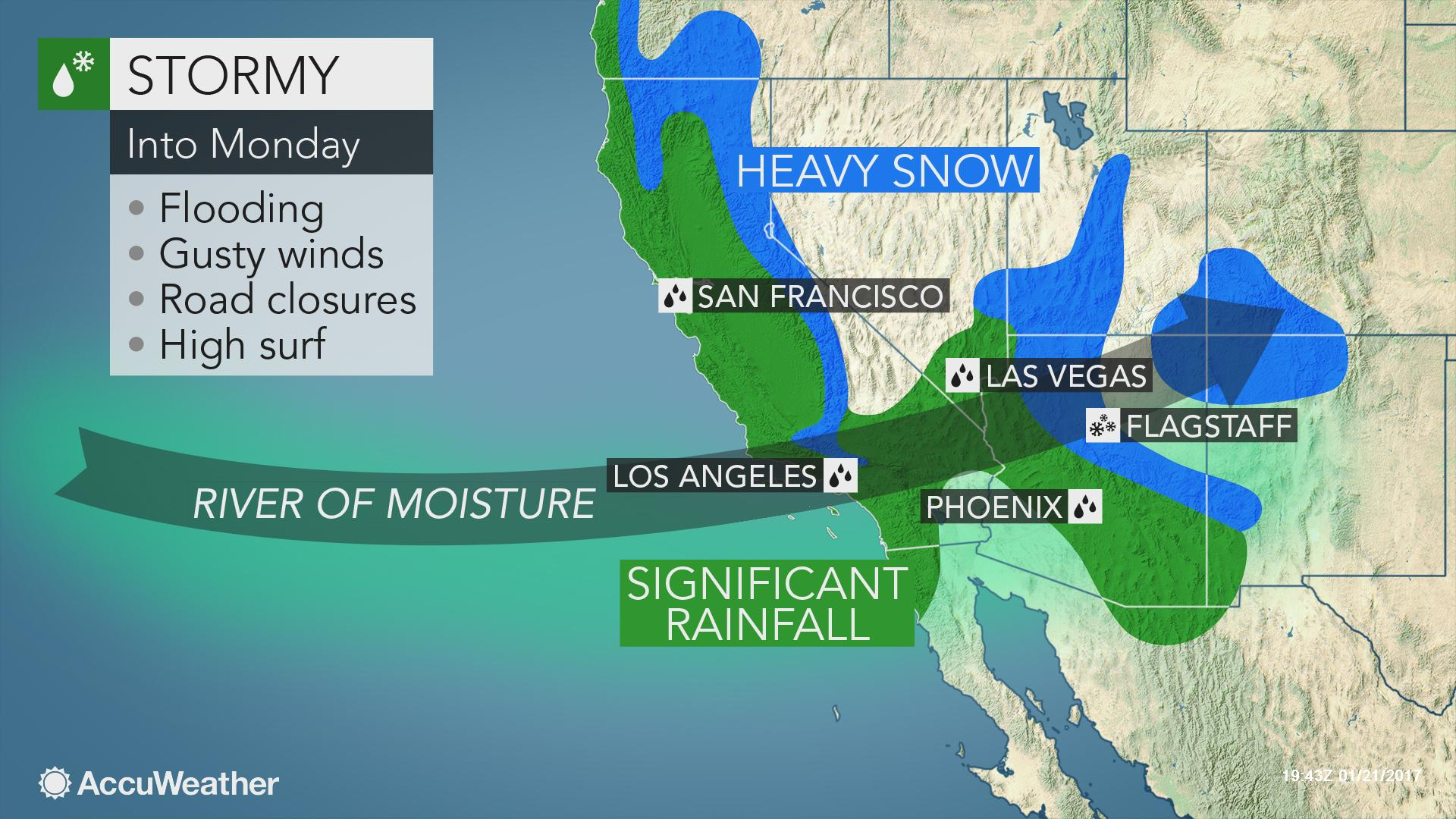Us Snow Depth Map California To Face More Flooding Rain Burying - Snow Level Map California