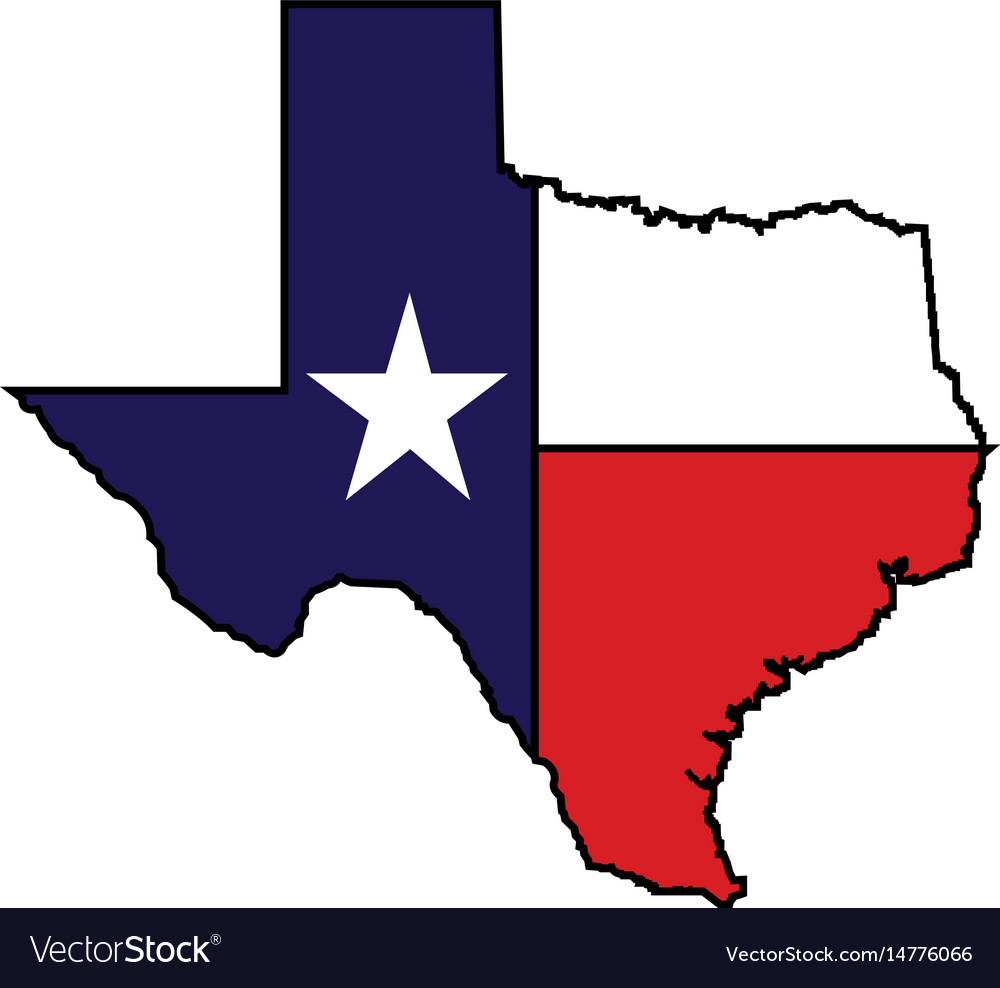 Us State Of Texas Map Logo Design Royalty Free Vector Image - Free Texas State Map