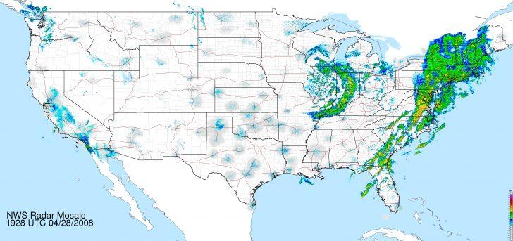 Satellite Weather Map California