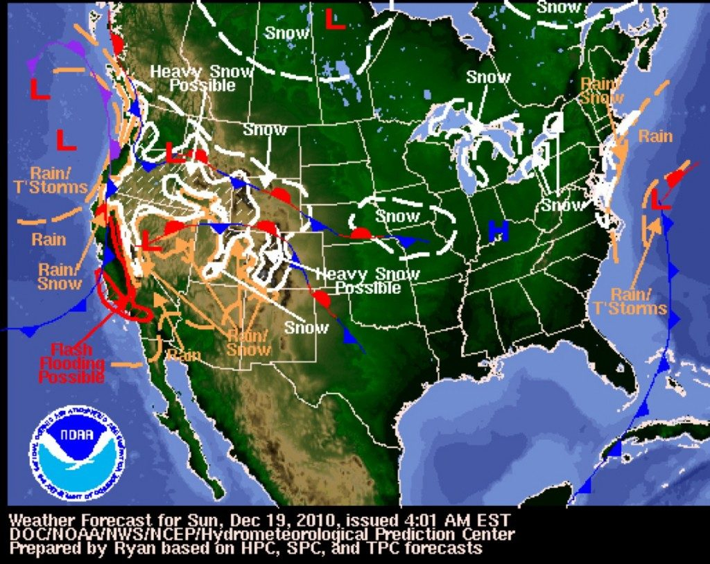 Us Weather Map California California Map With Cities California - California Weather Map For Today