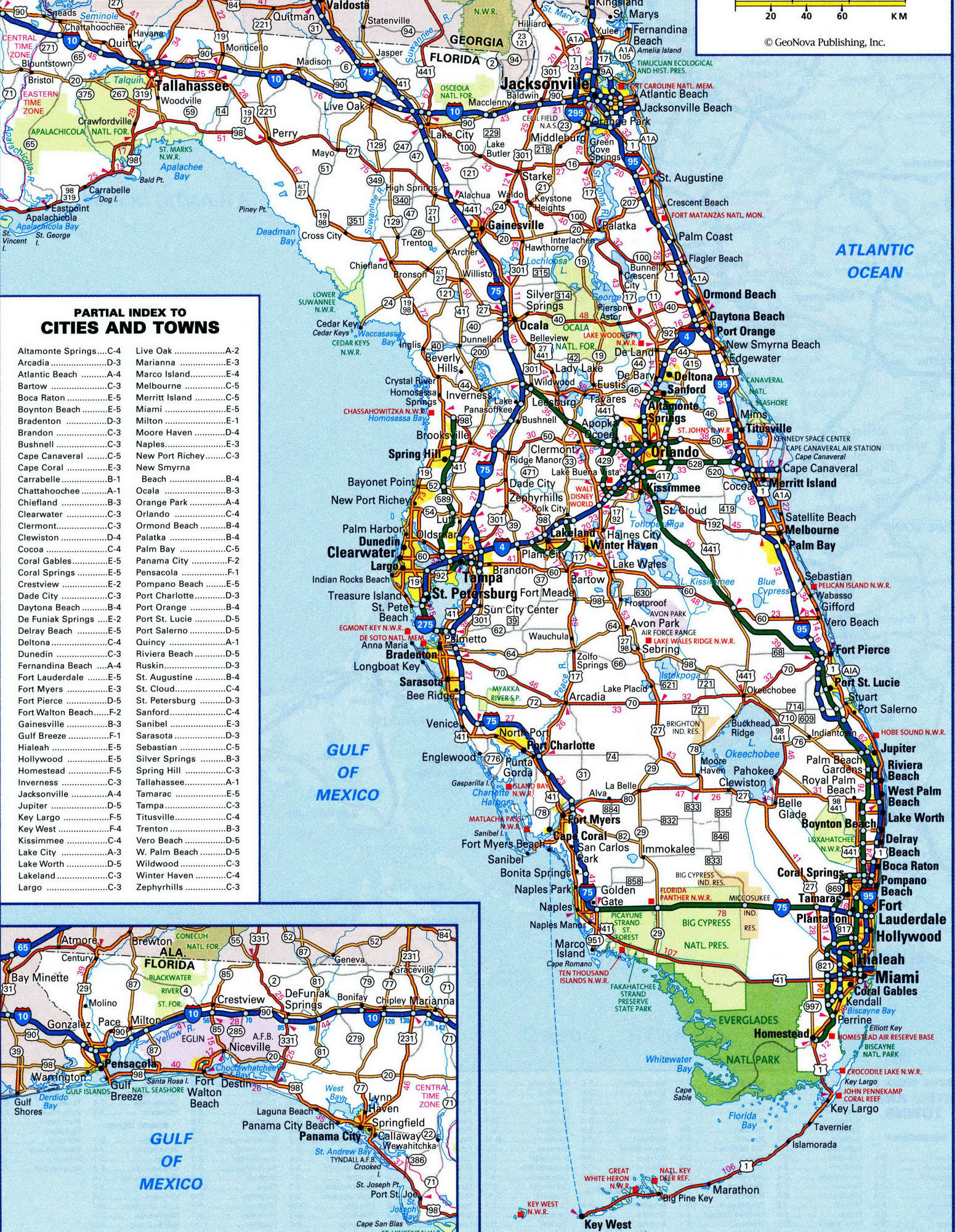 Us West Coast Counties Map Florida Road Map New Detailed Map Florida - Florida Road Map 2018