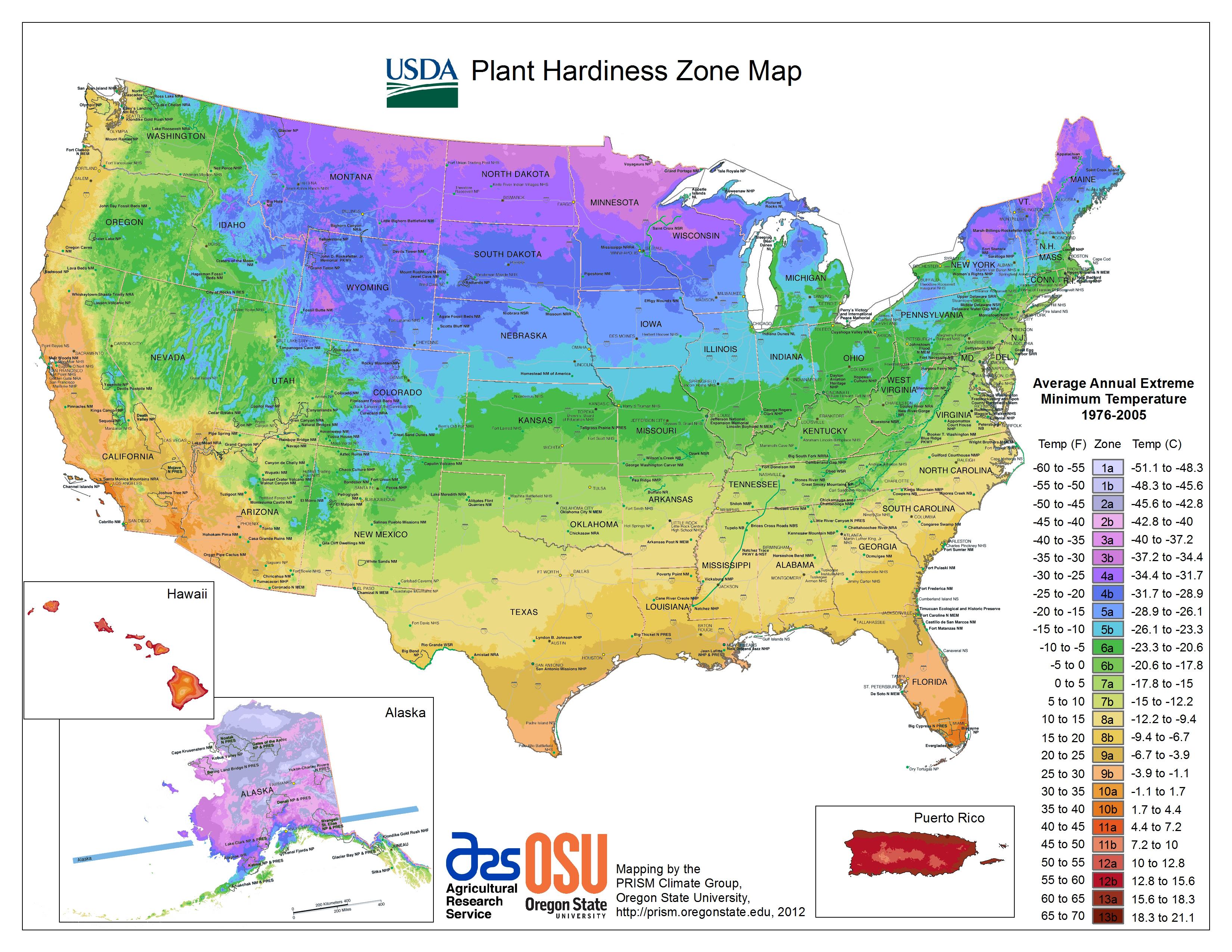 Usda Hardiness Zone Finder - Garden - Plant Zone Map California